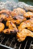 Ali di pollo arrostite Fotografia Stock Libera da Diritti