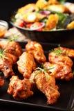Ali di pollo calde Fotografie Stock