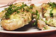 Ali di pollo cotte Immagine Stock