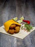 Ali di pollo croccanti Fotografie Stock