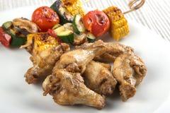 Ali di pollo del Bbq Immagini Stock