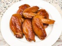 Ali di pollo della griglia Fotografia Stock