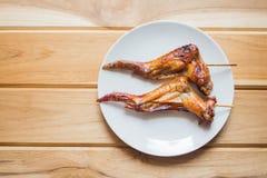 Ali di pollo della griglia Immagini Stock