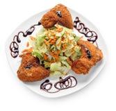 Ali di pollo fritto Fotografia Stock Libera da Diritti