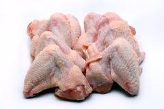 Ali di pollo grezze Immagine Stock