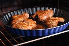 Ali di pollo piccanti Fotografie Stock Libere da Diritti