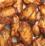 Ali di pollo piccanti del BBQ Fotografia Stock Libera da Diritti