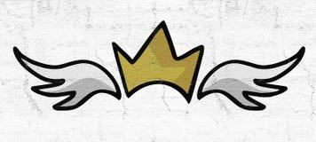 Ali di re illustrazione di stock