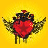 Ali e cuore Fotografia Stock Libera da Diritti