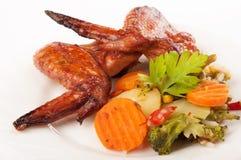 Ali fritte della gallina. Immagine Stock Libera da Diritti