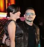 Ali Hewson and Bono. Irish singer, musician, and activist, Bono, arrives at the Vanity Fair Party for the 8th Annual Tribeca Film Festival at 60 Centre Street in royalty free stock photos
