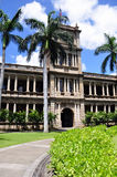 Ali'iolani Hale, Honolulu, Hawaii. Ali'iolani Hale or House of the Heavenly King was designed as a palace and built in 1874. It was never used and now houses the Royalty Free Stock Photo
