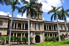 Ali'iolani Hale, Honolulu, Hawaii. Ali'iolani Hale or House of the Heavenly King was designed as a palace and built in 1874. It was never used and now houses the Royalty Free Stock Photography