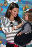 Ali Landry,Kevin James. Ali Landry & Daughter Estela arrives at the Make-A-Wish Foundation Day Event Hosted by Kevin & Steffiana James  Pacific Park on the Santa Royalty Free Stock Photography