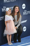 Ali Landry. LOS ANGELES, CA - MAY 29, 2014: Ali Landry & daughter at the world premiere of Maleficent at the El Capitan Theatre, Hollywood Royalty Free Stock Photography