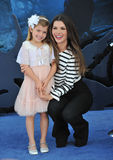 Ali Landry. LOS ANGELES, CA - MAY 29, 2014: Ali Landry & daughter at the world premiere of Maleficent at the El Capitan Theatre, Hollywood Stock Photos