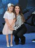 Ali Landry. LOS ANGELES, CA - MAY 29, 2014: Ali Landry & daughter at the world premiere of Maleficent at the El Capitan Theatre, Hollywood Stock Photography