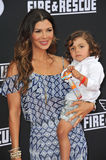 Ali Landry & Marcelo Alejandro Monteverde. LOS ANGELES, CA - JULY 15, 2014: Ali Landry & son Marcelo Alejandro Monteverde at the world premiere of Disney's Stock Photography