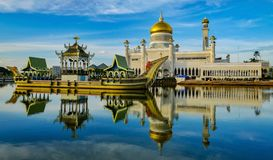 ali meczetowy Omar saifuddin sułtan fotografia royalty free
