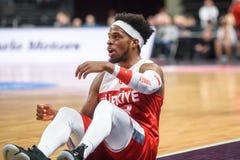 Ali Muhhamed Bobby Dixon lagTurkiet basket royaltyfria foton