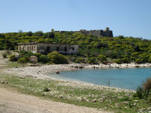 Ali Pasha fort przy Palermo, Południowy Albania Zdjęcia Stock
