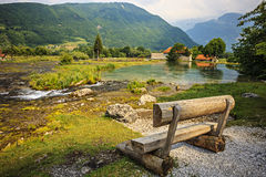 Ali-Pasha Springs in Montenegro. Ali-Pasha Springs near Prokletije national park in Gusinje, Montenegro Stock Photo