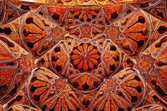Ali Qapu Palace-het plafond van de muziekzaal stock foto