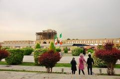 Ali Qapu Palace a Ispahan, Iran Fotografia Stock Libera da Diritti
