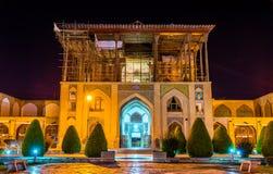 Ali Qapu Palace no quadrado de Naqsh-e Jahan em Isfahan fotografia de stock