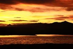 Ali Salt Lake zmierzch Zdjęcia Stock