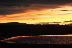 Ali Salt Lake zmierzch Obrazy Stock