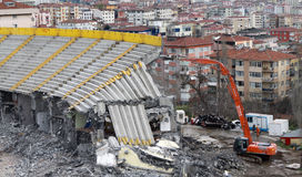 Ali Sami Yen Stadium was demolished. Royalty Free Stock Photos