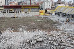 Ali Sami Yen Stadium was demolished. Royalty Free Stock Images
