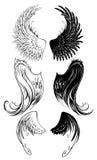 Ali stilizzate di angelo Immagine Stock Libera da Diritti