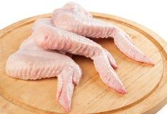 Ali umide della gallina. Immagine Stock