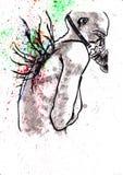 Ali universali di colore di angelo malato royalty illustrazione gratis