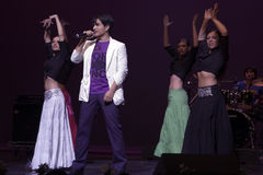 Ali Zafar in concert at Geneva stock image
