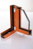 aliażu aluminiowy szczegółu okno Obraz Stock