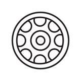 Aliażu koła ikony wektoru znak i symbol odizolowywający na białym backgr royalty ilustracja