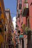 Aléia da rua em Nápoles Fotos de Stock Royalty Free