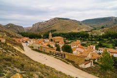 Aliaga Teruel fotografia stock