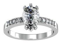 A aliança de casamento da beleza Imagens de Stock Royalty Free