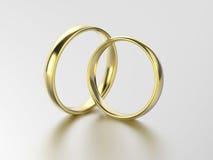 aliança de casamento do ouro da ilustração 3D Foto de Stock