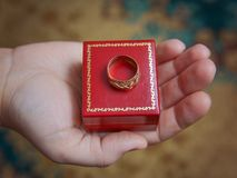 Aliança de casamento do ouro disponivel Imagem de Stock Royalty Free