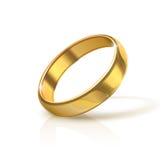 Aliança de casamento dourada Imagens de Stock
