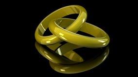Alianças de casamento ilustração royalty free