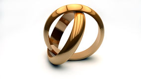Alianças de casamento ilustração stock
