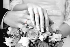 Alianças de casamento do ouro Foto de Stock