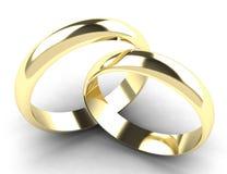 Alianças de casamento do ouro Fotografia de Stock