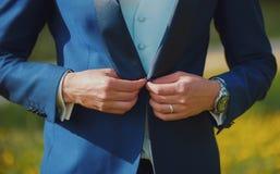 Alianças de casamento em conjunto Foto de Stock Royalty Free